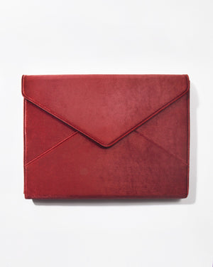 Tech Accessories - Cherry Velvet Laptop Clutch Red