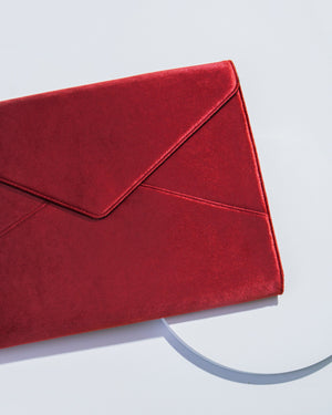 Tech Accessories - Cherry Velvet Laptop Clutch Laptop clutches