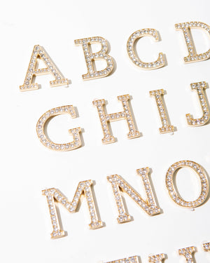 Tech Accessories - Crystal Embellished Metal Alphabet Sticker Embellished stickers