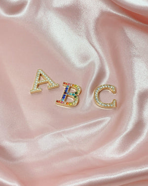Tech Accessories - Crystal Embellished Metal Alphabet Sticker Personalization