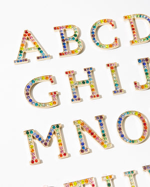 Tech Accessories - Crystal Embellished Metal Alphabet Sticker