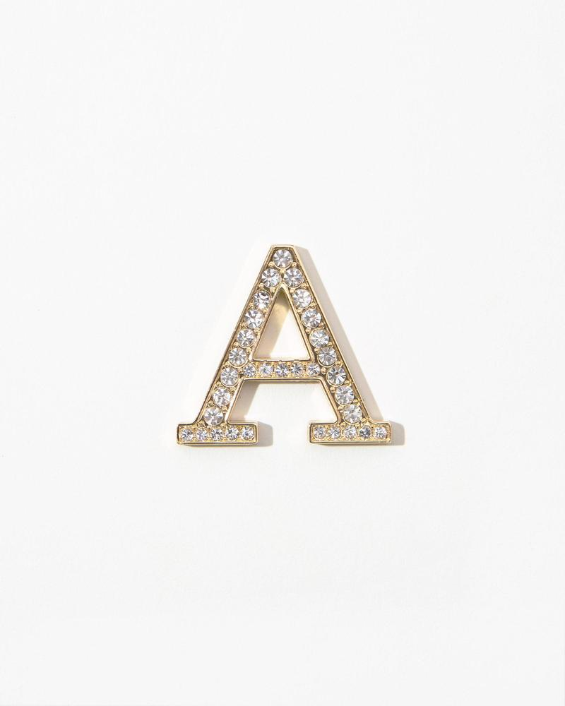 Clear Crystal Embellished Metal Greek Letter Sticker