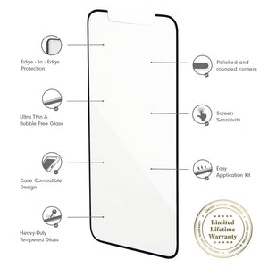 Tech Accessories - Edge To Edge Glass Screen Protector, IPhone XS Max Tech accessories