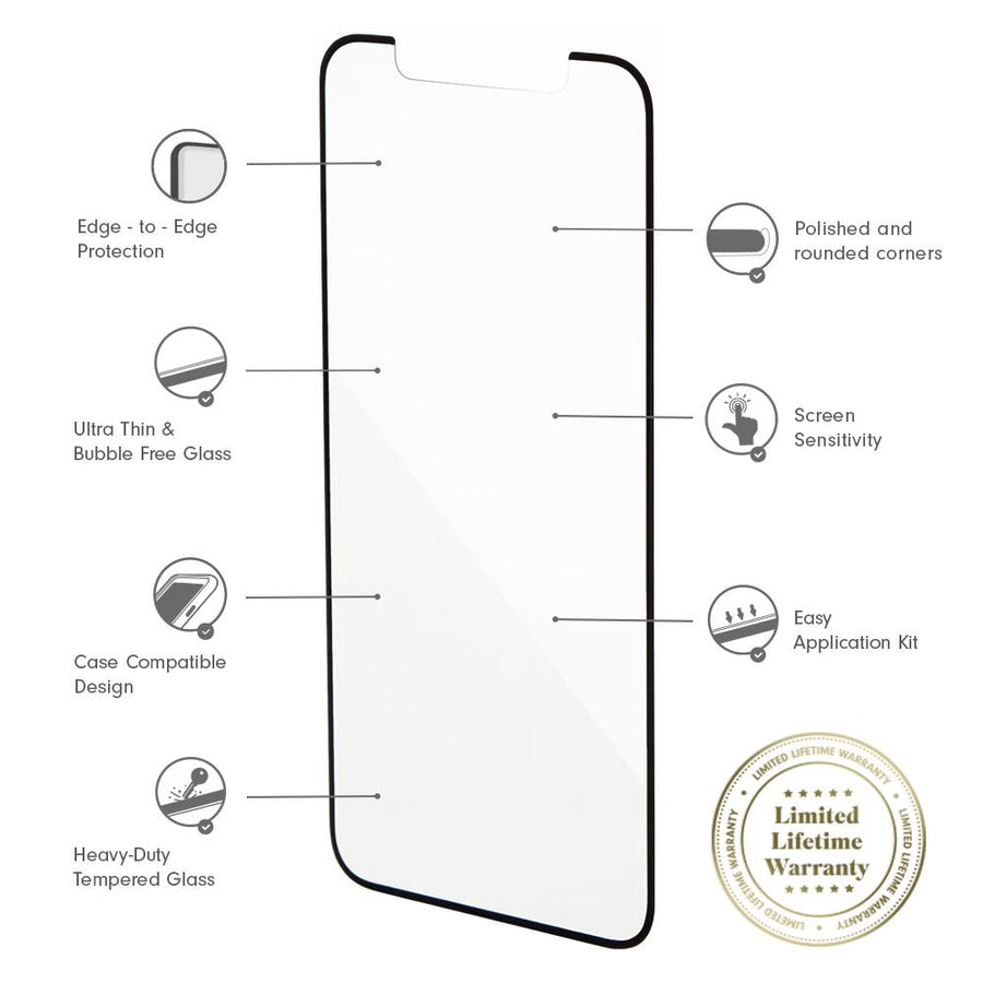 Tech Accessories - Edge To Edge Glass Screen Protector, IPhone XS/X