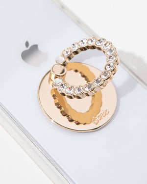 Tech Accessories - Embellished Rhinestone Ring, Clear Phone rings
