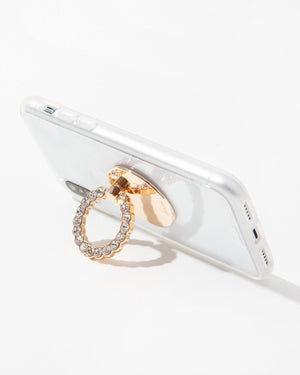 Tech Accessories - Embellished Rhinestone Ring, Clear