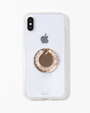 Tech Accessories - Embellished Rhinestone Ring, Clear Bling bling bundle: iphone 11 pro max