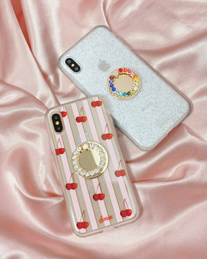 Tech Accessories - Embellished Rhinestone Ring, Clear Phone rings & stands