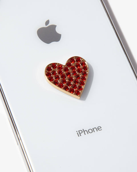 Tech Accessories - Embellished Rhinestone Sticker - Heart