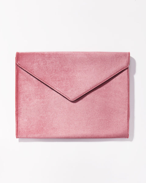 Tech Accessories - Rose Velvet Laptop Clutch