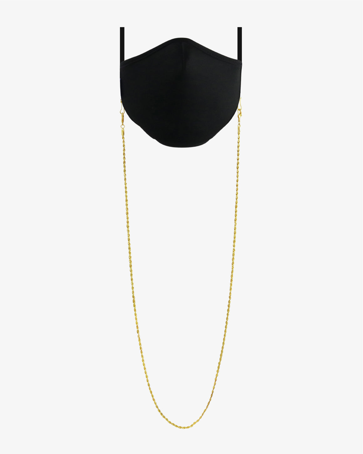 Twirl Face Mask Lanyard- Gold