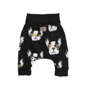 Back of Little Boston grow-with-me pants by Little Yogi | Tiny Squirrel