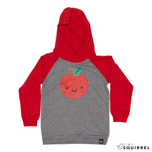 Kawaii Apple hooded sweatshirt from Whistle & Flute at the Tiny Squirrel boutique