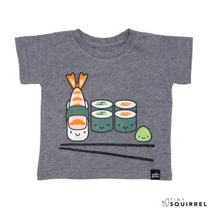 Kawaii Sushi t-shirt for babies and kids from Whistle & Flute at the Tiny Squirrel boutique