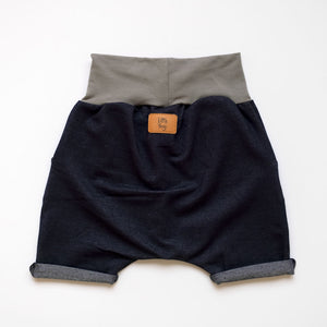 Back of Little Jeggings grow-with-me shorts by Little Yogi | Tiny Squirrel