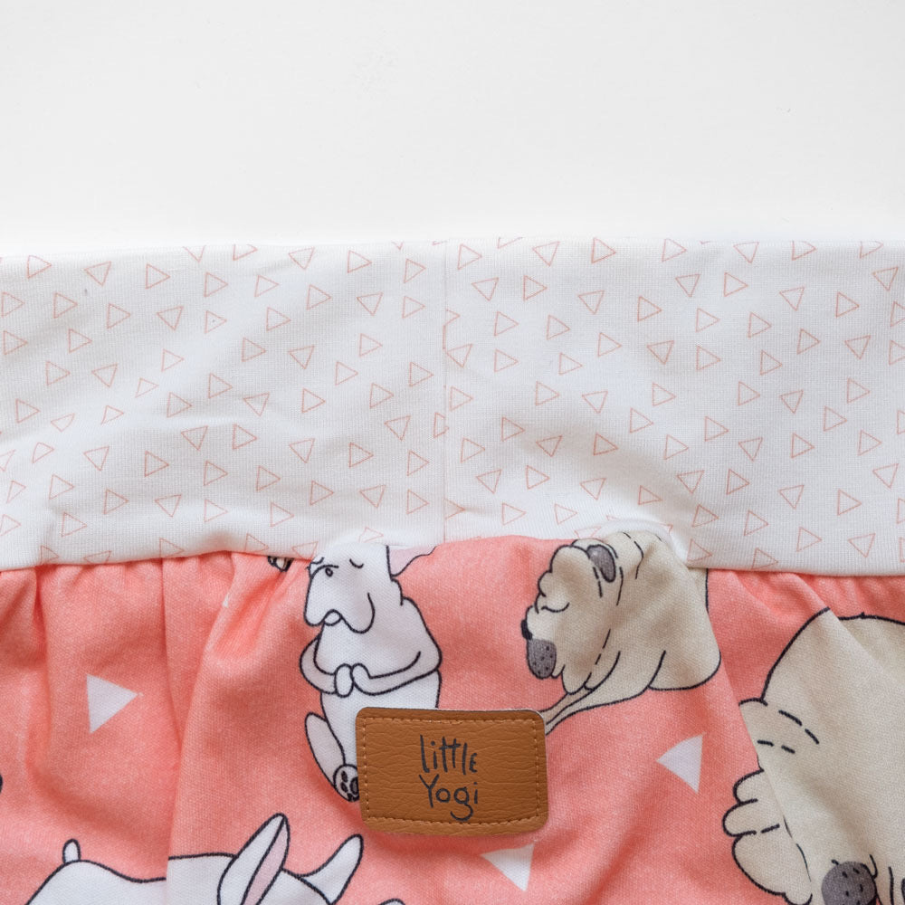 Aperçu taille shorts évolutif Little Pugs Corail de Little Yogi | Tiny Squirrel