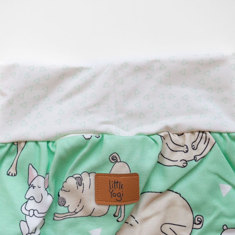 Aperçu taille shorts évolutif Little Pugs Vert de Little Yogi | Tiny Squirrel