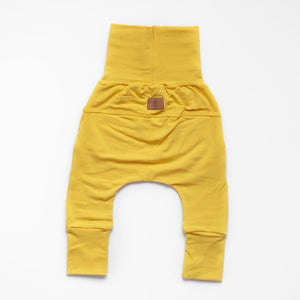 Back of Little Sunshine grow-with-me pants by Little Yogi | Tiny Squirrel