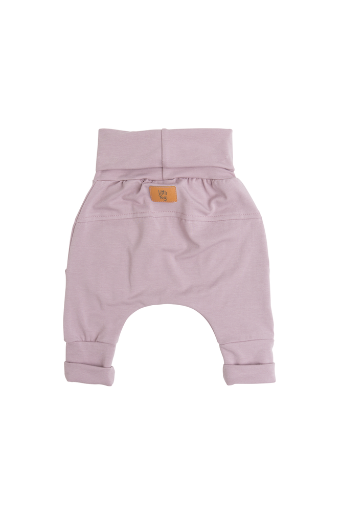 Little Sea Fog grow-with-me pants by Little Yogi and available at Tiny Squirrel