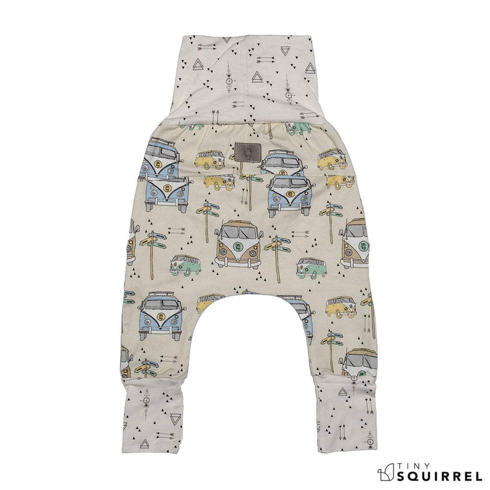 Back of Little Sydney grow-with-me pants by Little Yogi | Tiny Squirrel