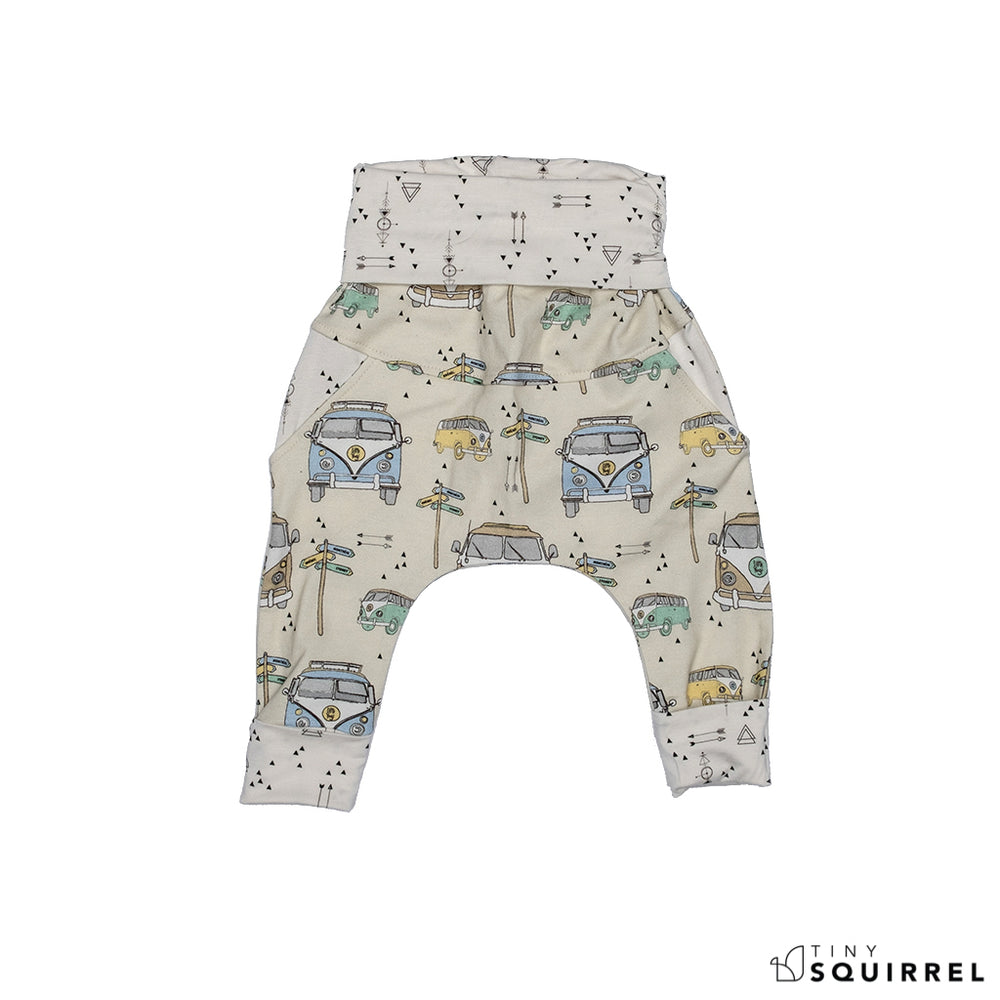 Folded Little Sydney grow-with-me pants by Little Yogi | Tiny Squirrel