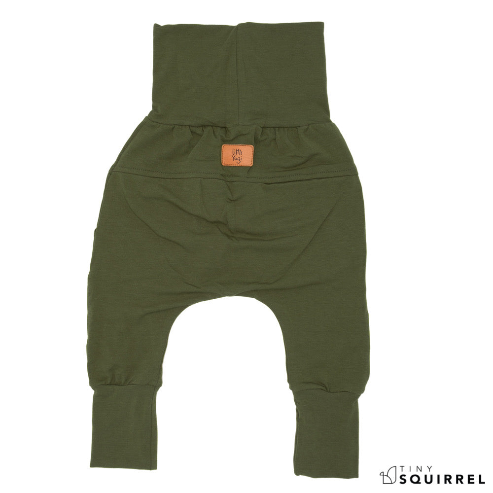 Back of Little Olivier grow-with-me pants by Little Yogi | Tiny Squirrel