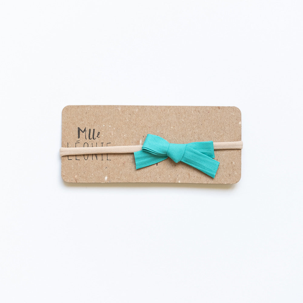 Headband with bow | Turquoise