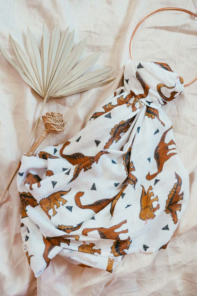 Muslin Blanket | Little Mighty Dinosaurs