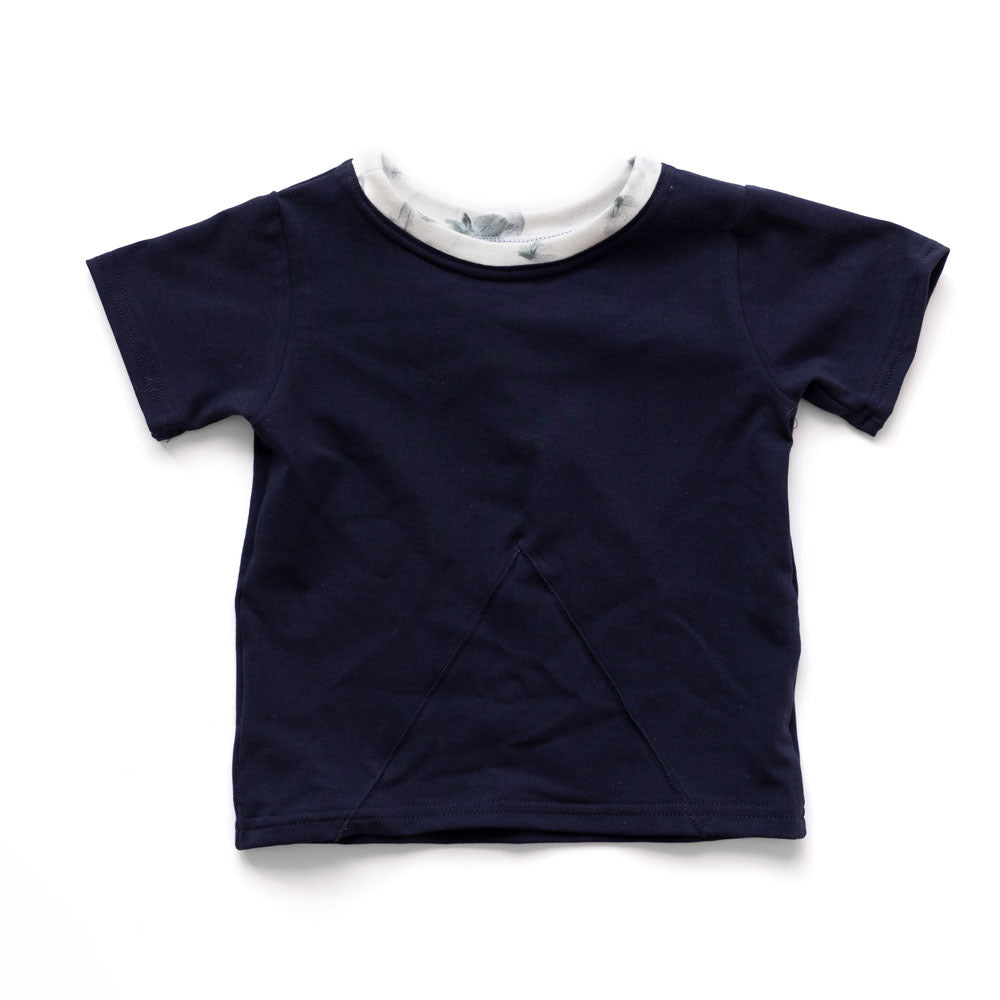 T-Shirt | Navy & Misty