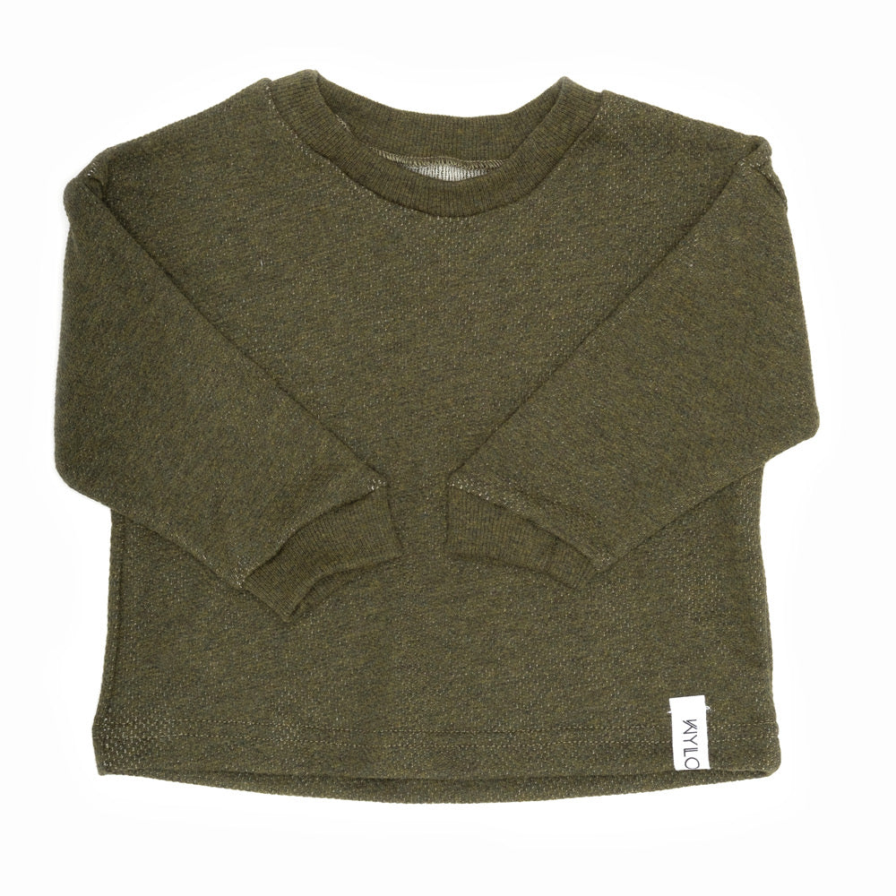 Drop Sleeve Sweater | Forest Green