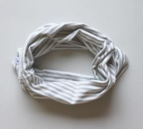 Bamboo Scarf | Grey Stripe