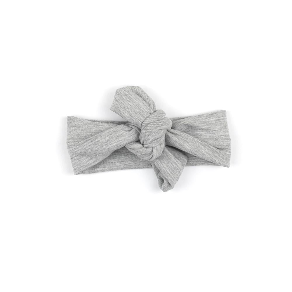 Knotted Headband | Heather Grey