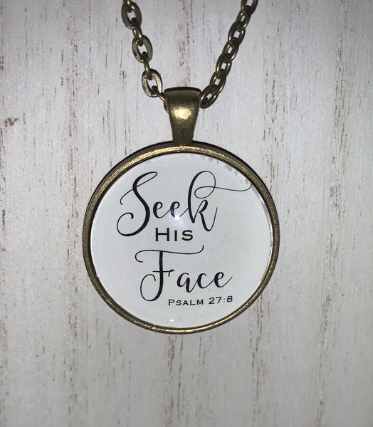 Seek His Face necklace