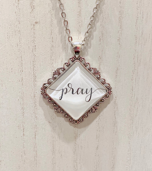 Pray necklace