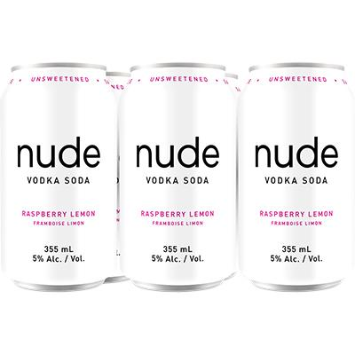 Nude Soda - Rasp. Lemon 6pk