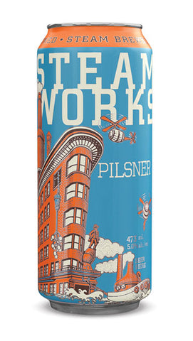 Steamworks Pilsner 8pk Can