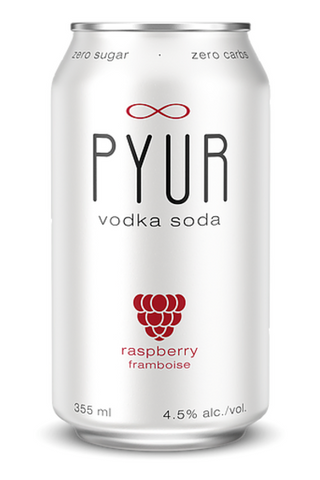 Pyur Raspberry Vodka Soda 6pk