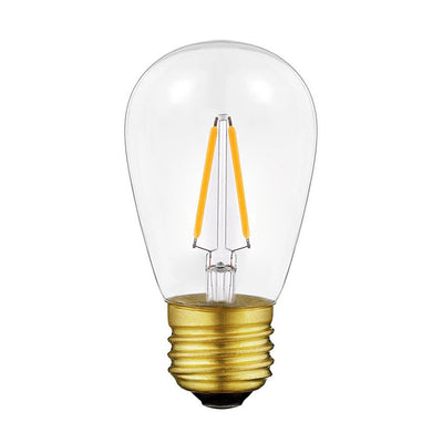 Vintage Edison LED Filament Light Bulb Lamp S14 ST45 E26 Base Warm White 2700K 2W Equivalent 20W Patio String Lights Replacement