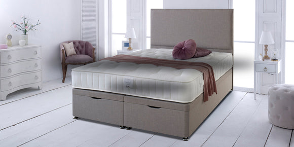 Bed Set with End Opening Ottoman