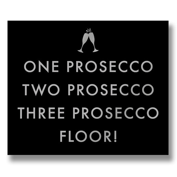 'One Prosecco' Metallic Detail Wall Plaque