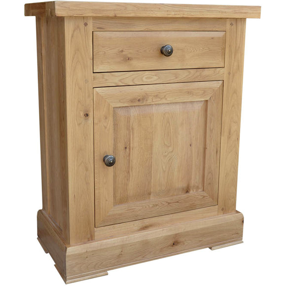 French Oak 1 Door Cabinet