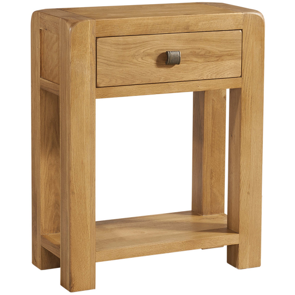 Sway Oak 1 Drawer Console Table
