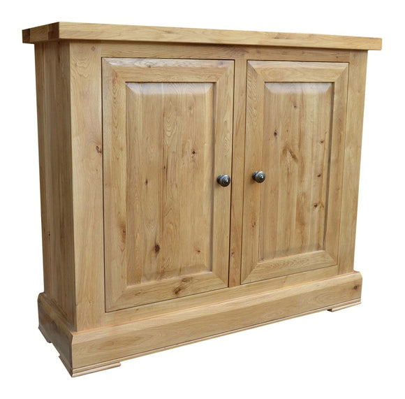 French Oak 2 Door Cabinet