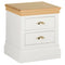 Eton White 2 Drawer Bedside