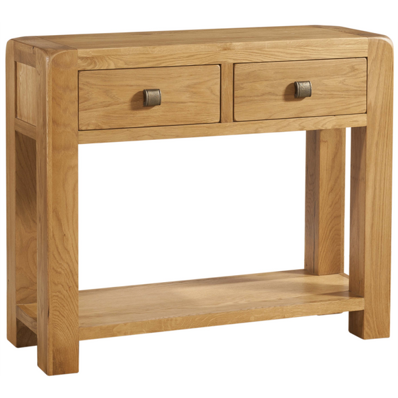 Sway Oak 2 Drawer Console Table