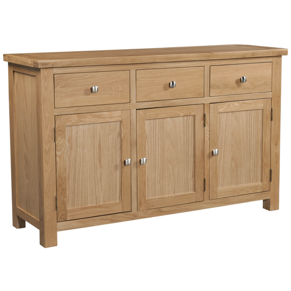 Oxford Oak 3 Drawer Sideboard