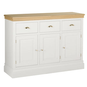 Eton White 3 Drawer Sideboard