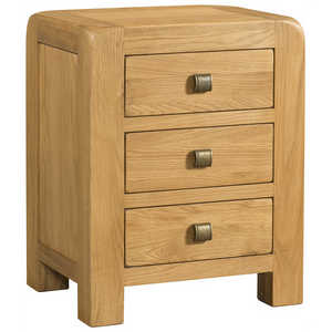 Sway Oak 3 Drawer Bedside