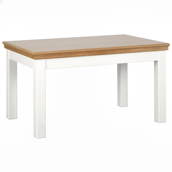 "Eton White 4'6"" Fixed Top Table"