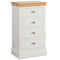 Eton White 4 Drawer Wellington